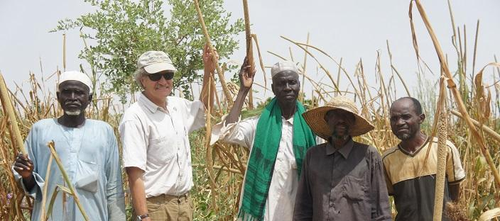 Richard Dick with partner farmers in Niger